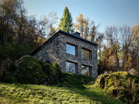 Italian Farmhouse Plans Modern Stone Cabin In Northern Italy Is A Romantic Gem
