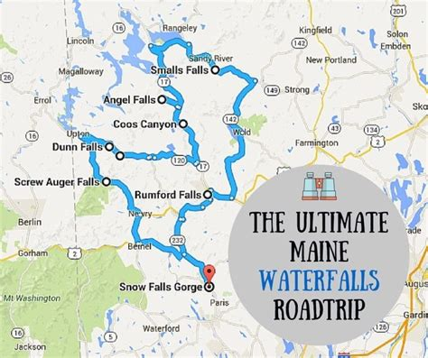 waterfalls in usa map 666 best maine images on travel ideas travel