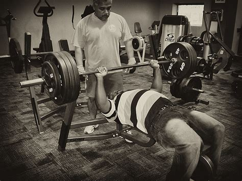 bench press on ground me bench pressing 365 pounds photo by daniel hartmann