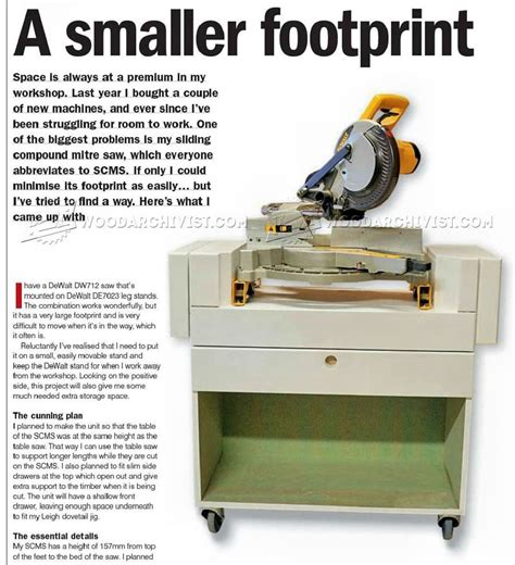 miter saw table plans pdf mobile miter saw stand plans woodarchivist
