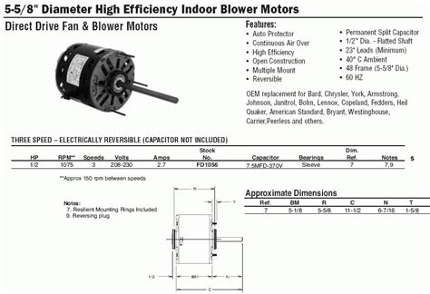 ao smith motor parts diagram ao smith motors wiring diagram blower motor wiring