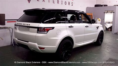 white and black range rover sport 2014 range rover sport wrapped in satin pearl white by dbx