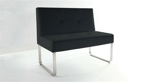 black dining bench modern black dining bench quilted seat and backrest