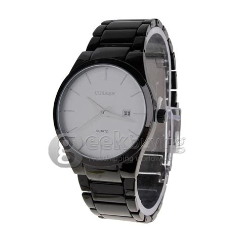 Curren Mens Black Stainless Steel Band 8106 curren 8106 stainless steel s fashion casual