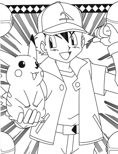 Pokemon Ash And Pikachu Coloring Pages Car Interior Design Ash And Pikachu Coloring Pages