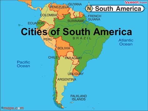 map of south america with cities cities of south america ppt