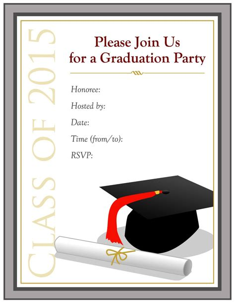 high school graduation invitations templates 40 free graduation invitation templates template lab