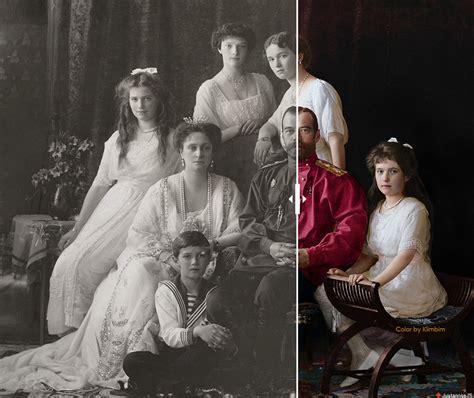 Imagenes De La Familia Romanov   primeras im 225 genes en color de la familia romanov russia