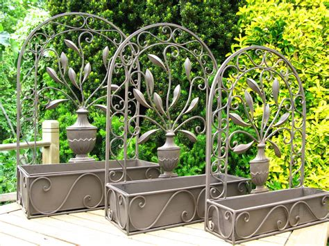 Arch With Planters by Arch Steel Wall Planter By The New