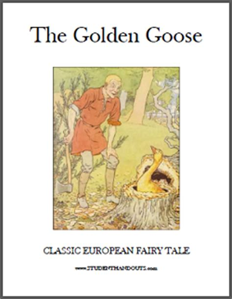printable version of fairy tales the golden goose ebook student handouts