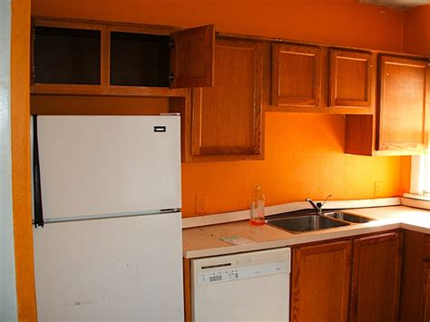 paint the kitchen orange house painting trends