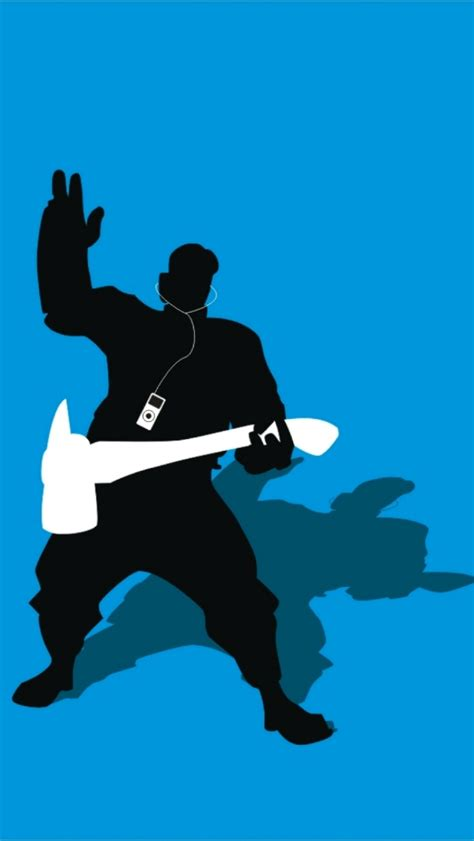 01032b Silhoutte Ii Blue tf2 blue pyro silhouette earbuds for iphone5 by cwegrecki