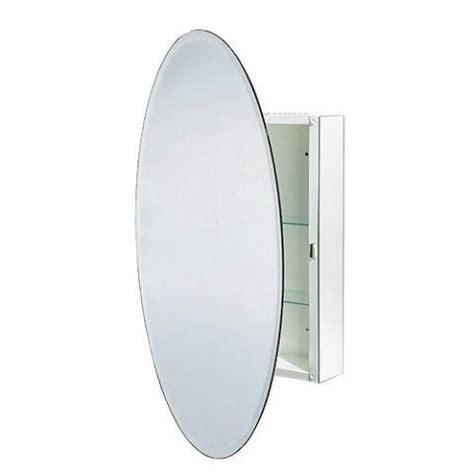 oval mirror with hidden medicine cabinet outside ottawa