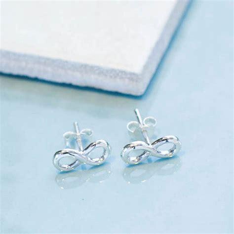 infinity sterling silver stud earrings by lovethelinks