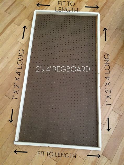how to paint pegboard build a pegboard frame jenna burger diy how to paint pegboard build and install a frame