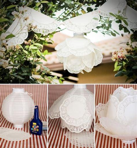 paper doily wedding decorations diy paper doily lantern decorating