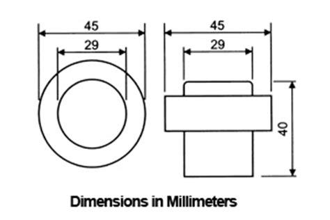 Door Stop Dimensions by Stainless Steel Floor Mount Door Stop Ahi