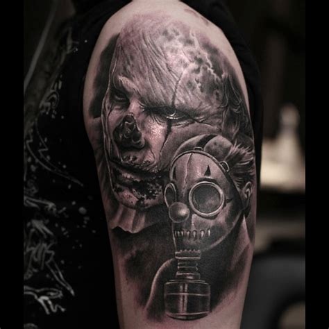 zombie apocalypse tattoo on shoulder best tattoo ideas