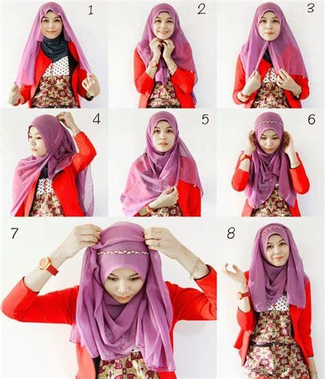 tutorial cara memakai jilbab segi empat terbaru 2014 cara memakai jilbab segi empat tutorial terbaru 2017