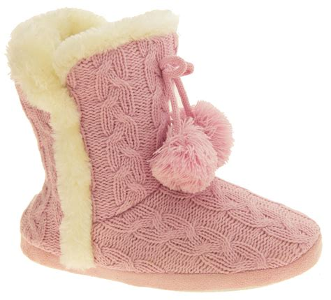 cable knit slipper boots dunlop eleanor cable knit faux fur slipper boot