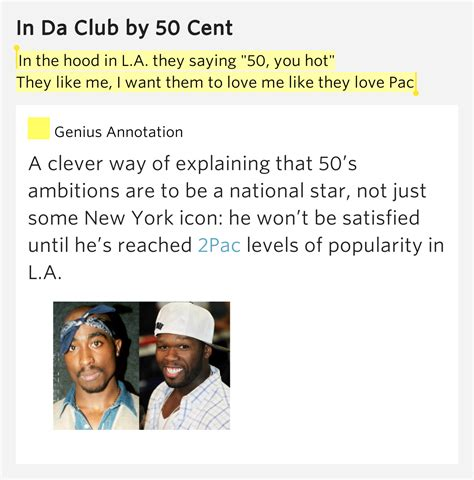 50 Cent Likes Lyrics Doesnt Like Golf by In The In L A They Saying Quot 50 You Quot They