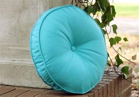 Drapes Accessories Custom Designer Round Pillow With Button
