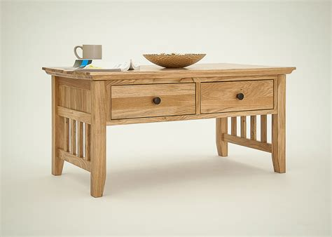 hereford rustic oak coffee table oak furniture solutions
