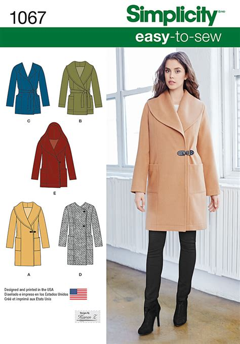 simple pattern jacket simplicity 1067 misses easy to sew jacket or coat
