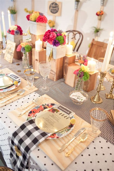 pink gold table setting decor b a s