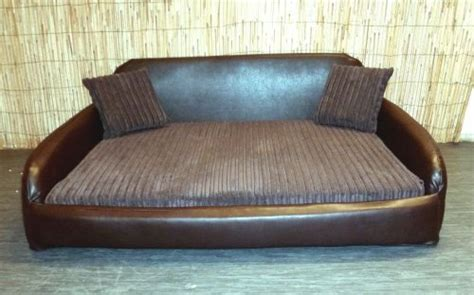 dog sofa bed extra large zippy faux leather sofa pet dog bed extra large brown