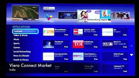 Tv Panasonic Maret Panasonic Viera Connect Market And Apps Demo