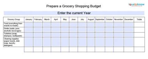 prepare  grocery shopping budget lovetoknow