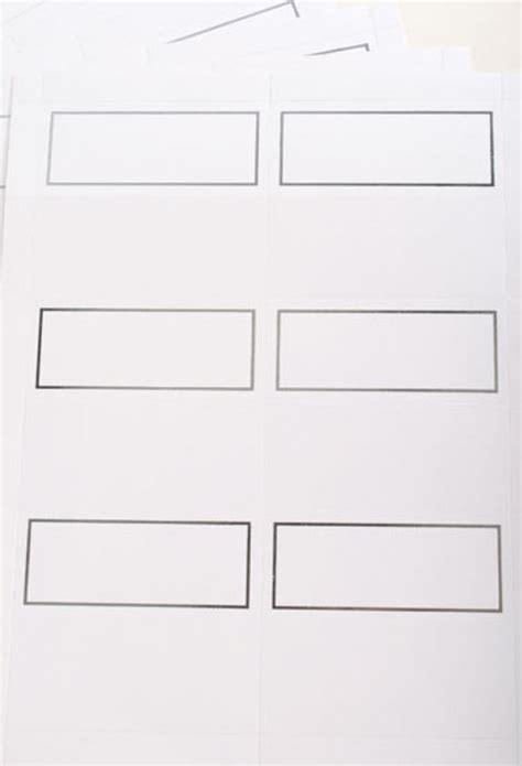 6 per page label template place card template 6 per sheet the best letter sle