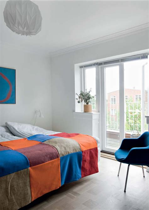 white bedroom with accent color dash of color splash vertical home garden