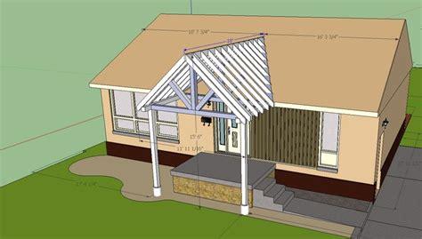 Building A Gable Porch Roof building a gable end porch cover tying into existing roof building construction diy
