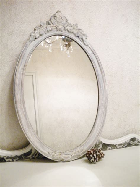 large shabby chic mirror chic vintage mirror large vintage wood shabby chic by