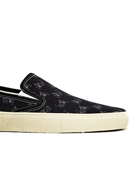 laurent sneakers mens laurent skate 20 slip on sneakers in black for