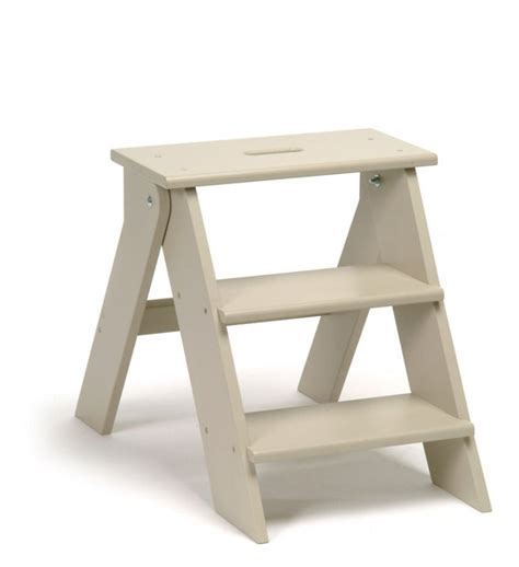 garden trading folding wooden step stool in clay at
