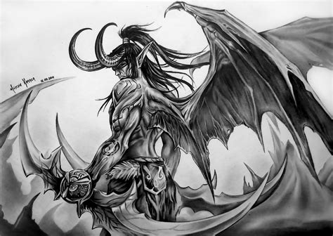 illidan stormrage by huseyinkaraca on deviantart