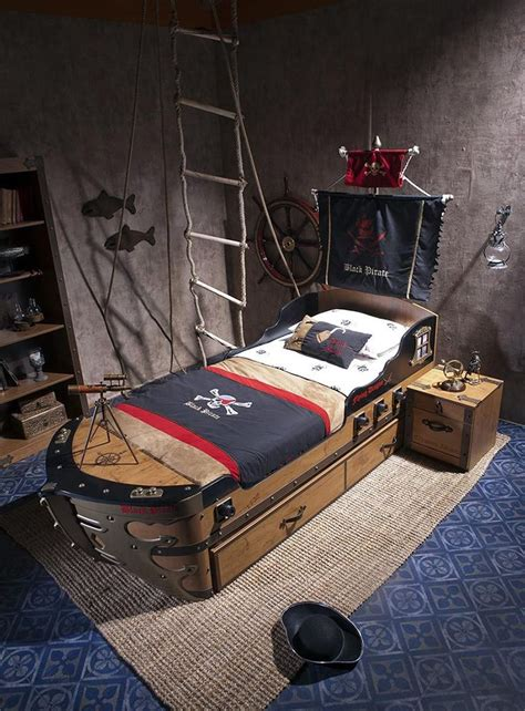 pirate ship twin bed captains bed black pirate ship bed for kids boys