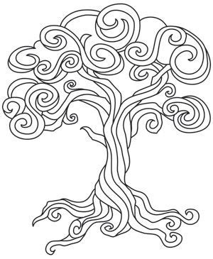 Create A Regal Look With A Whimsical Twist Stitched In A Whimsical Tree Coloring Page