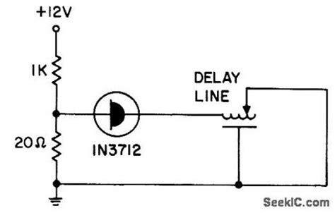 tunnel diode lifier delay line oscillator oscillator circuit signal processing circuit diagram seekic