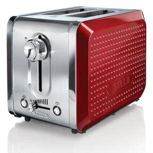 bella kitchen appliances bella dots 2 slice toaster red appliances small