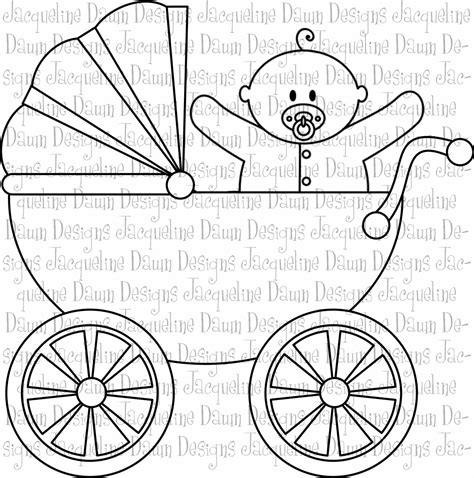 baby carriage free colouring pages