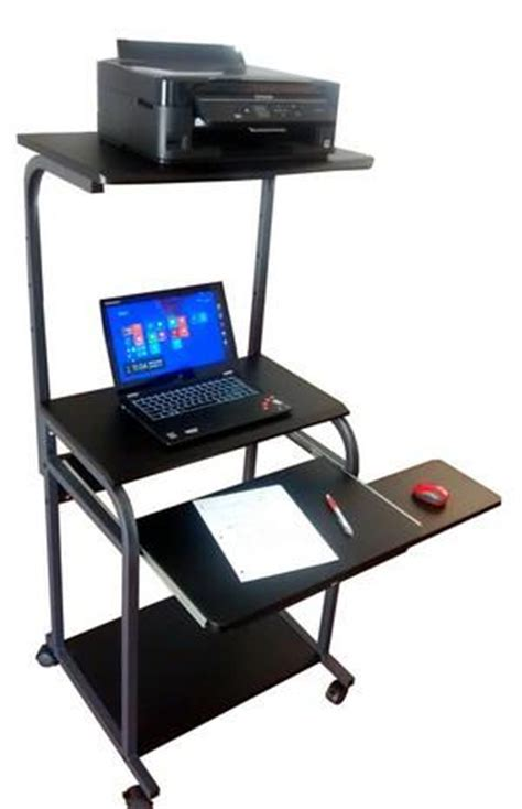 computer desk with tower shelf sts 5801e cd 24 quot mobile computer desk with tower shelf