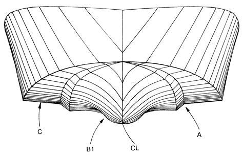 boat hull drawing patent us6176196 boat bottom hull design google patents