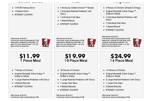 kfc coupons december 2018 printable