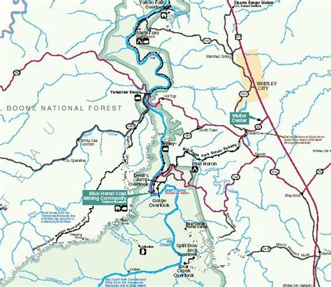 kentucky falls map kentucky trails big south fork national river