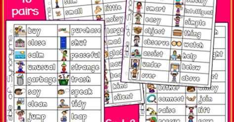 Synonyms For Table by Nyla S Crafty Teaching Synonyms List