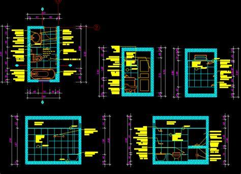 Bathtub Section Dwg by Planos De Detalles De Ba 241 Os En Dwg Autocad Ba 241 Os Sanitarios En Planospara